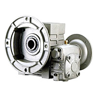 Double Hollow Worm Gear Reducer - Hollow Flange With Output Flange