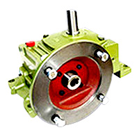 Single Universal Worm Gear Reducer - Univeral Flange Type With Output Shaft