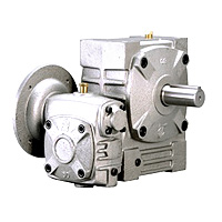 Double Universal Worm Gear Reducer - Univeral Flange Type With Output Shaft